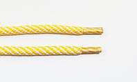 Шнурки круглые 7мм желтый+белый , фото 1