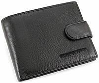 Вместительный кожаный мужской портмоне в черном цвете  Marco Coverna (32003)