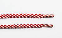 Шнурки круглые 5мм красный+белый , фото 1