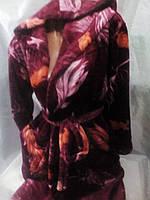 Молодежный женский флисовый халат