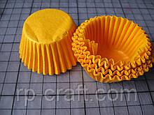 Форма для кекса бумажная. Маленькая, оранжевая