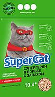 SUPER CAT с ароматизатором, 3кг (зеленый)