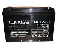 Аккумулятор 12В 80Ач AD12-80 ALVA