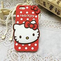 Чехол 3D Hello Kitty для iPhone 6/6S plus красный