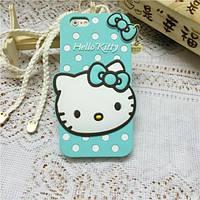 Чехол 3D Hello Kitty для iPhone 6/6S plus зеленый, фото 1