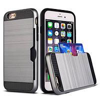 Чехол с слотом для iPhone 6/6S plus серый, фото 1