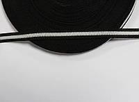 Т/О флаг 10мм (50м) черный+белый