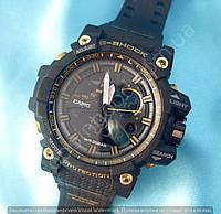 Часы Casio G-Shock Avio 114424 мужские черные с золотом водонепроницаемые противоударные с подсветкой