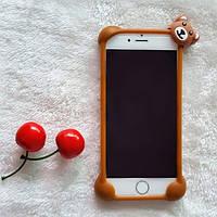 Универсальный 3D бампер мишка коричневый, фото 1
