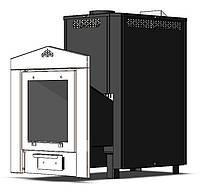 Печь-Каменка  ЭКО Б 20 кВт 220 мм черная, фото 1