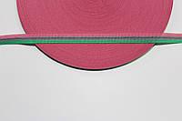Т/О флаг 10мм (50м) розовый+зеленый+серый, фото 1