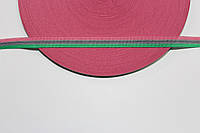 Т/О флаг 10мм (50м) розовый+зеленый+серый