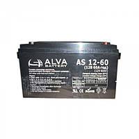 Аккумулятор гелевый 12В 60Ач AS12-60 Solar GEL ALVA