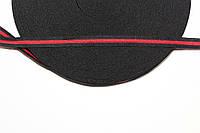 Т/О флаг 10мм (50м) черный+красный , фото 1