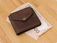 Универсальный кошелек с монетницей 4.2 (4 кармана, кнопка) Орех