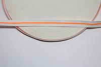 Т/О флаг 10мм (50м) белый+оранжевый , фото 1