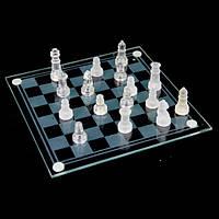 Стеклянные шахматы сувенирные фигурки из стекла малые GJS03