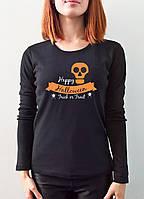 """Женская футболка """"Helloween"""" с длинным рукавом"""