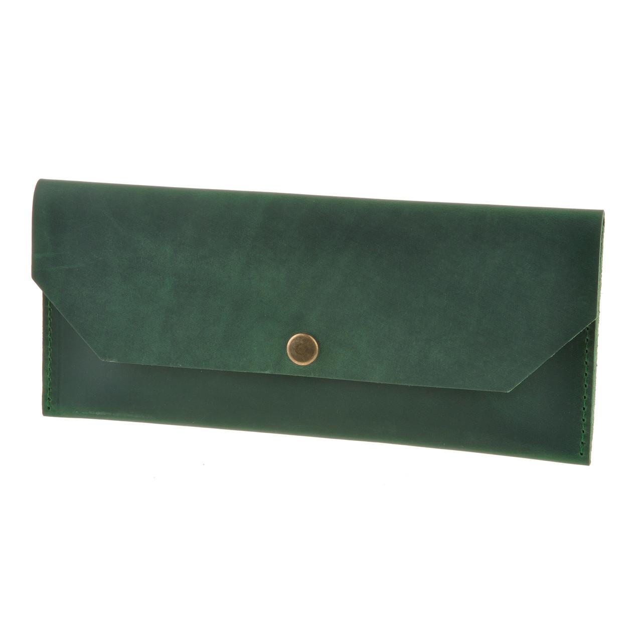 ba021f15ec67 Удобный кожаный клатч-конверт Blanknote Изумруд - FOXBAG кожаные сумки и  аксессуары украинских брендов в