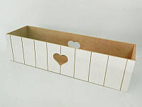 Ящик балконный для цветов белый