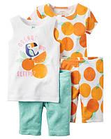 """Пижама 4в1 Carter's """"Апельсин"""" р.5,8"""