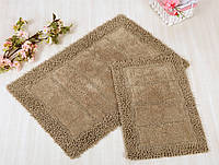 Набор ковриков для ванной Irya - Vesta brown кофе 60*90+40*60