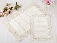 Набор ковриков для ванной Irya - Vesta cream кремовый 60*90+40*60