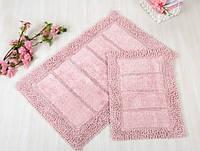 Набор ковриков для ванной Irya - Vesta pink розовый 60*90+40*60