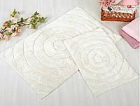 Набор ковриков для ванной Irya - Waves cream крем 60*90+40*60