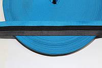 Т/О флаг 30мм (100м) т.синий+черный+бирюза , фото 1