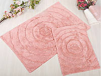 Набор ковриков для ванной Irya - Waves pink розовый 60*90+40*60