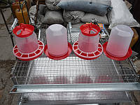 Комплект 2 Поилки 5 литров + 2 Кормушки 5 литров для птицы, курей, индюков, броилеров, уток, гусей