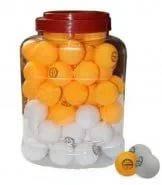 Шарики настольный теннис в банке (60шт) CHAMPION MT-2708 (d-40мм, бел.,оранж.) Цена за 1шт.