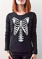 """Женская футболка """"Кости"""" с длинным рукавом"""
