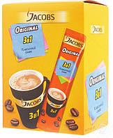 Кофе растворимый Якобс 3в1 Оригинал стик Ориджинал 24шт Jacobs Original Высшее качество