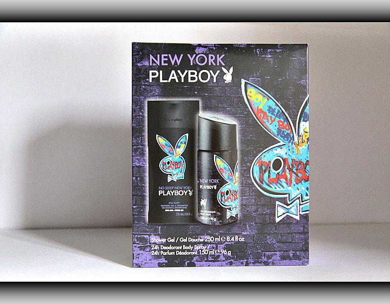 Набiр подарунковий чоловічий Playboy New York (гель для душу 2 в 1 дезодорант спрей)