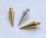 Набор маятников для  биолокации, 3 шт. из разного металла: латунь, бронза, алюминий ( форма - Конус ), фото 2