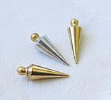 Набор маятников для  биолокации, 3 шт. из разного металла: латунь, бронза, алюминий ( форма - Конус ), фото 3