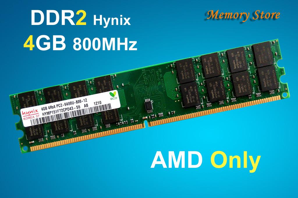 Оперативная память Hynix DDR2 4Gb PC2-6400 800MHz, for AMD