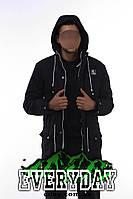 Мужская зимняя парка | куртка Ястреб чёрная (есть опт)