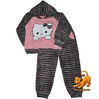 """Стильный детский костюм """"Hello Kitty"""" , трикотаж на флисе для девочки от 1-4 лет"""