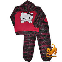 """Стильный детский костюм """"Hello Kitty"""" , трикотаж на флисе для девочек от 1-4 лет"""