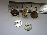 Кнопка - магнит 16 мм золото