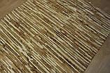 Плетеный ковер из полосок шкуры бежевого цвета , фото 2