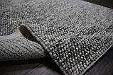 Серый шикарный шерстяной ковер с петлевым ворсом, фото 2