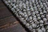 Серый шикарный шерстяной ковер с петлевым ворсом, фото 3