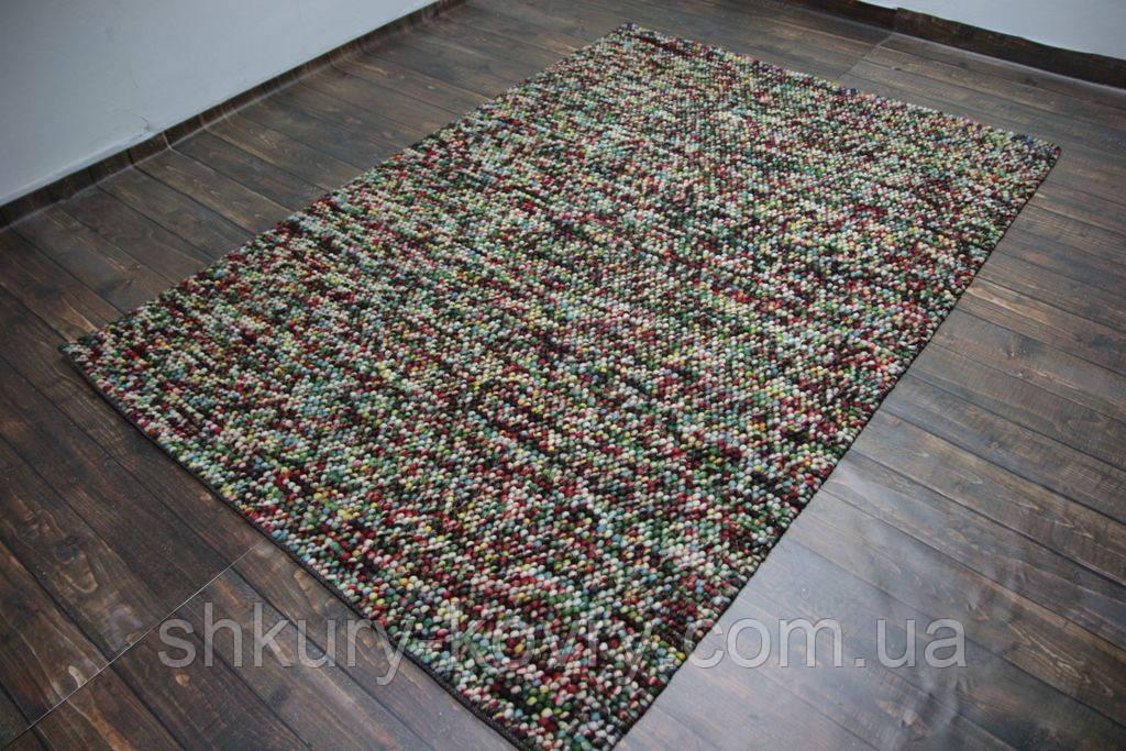 Цветной шерстяной ковер с петлевым ворсом, ручные ковры