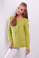 Женский теплый свитер в одном универсальном размере 3 цвета