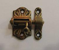 AMG-9941 Задвижка на дверь бронза антик, фото 1