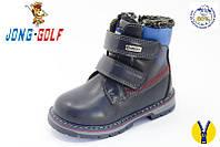 Зимние ботинки для мальчиков на липучках синие 36 размер.